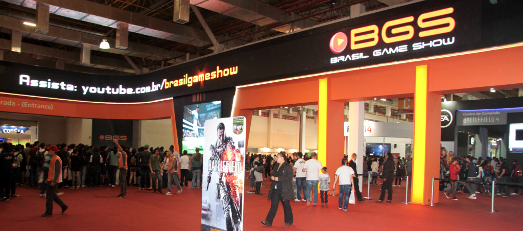 Entrace to the Brasil Game Show 2013.